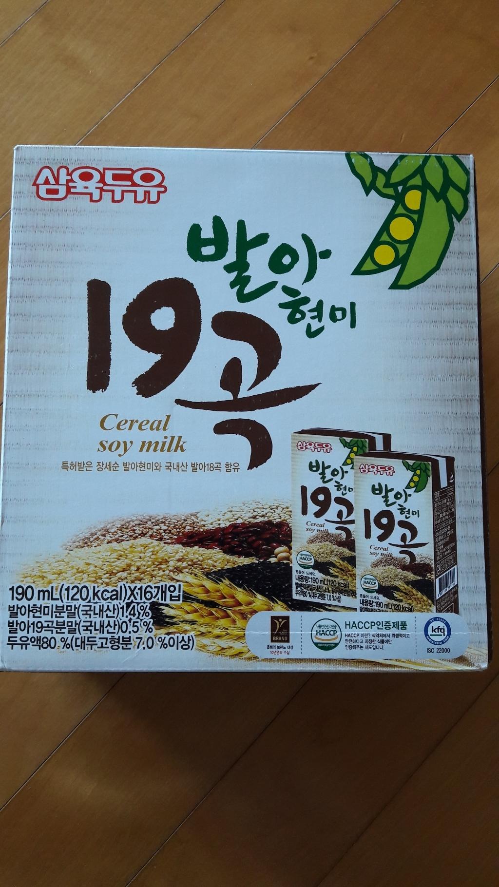삼육두유 발아현미 19곡 두유