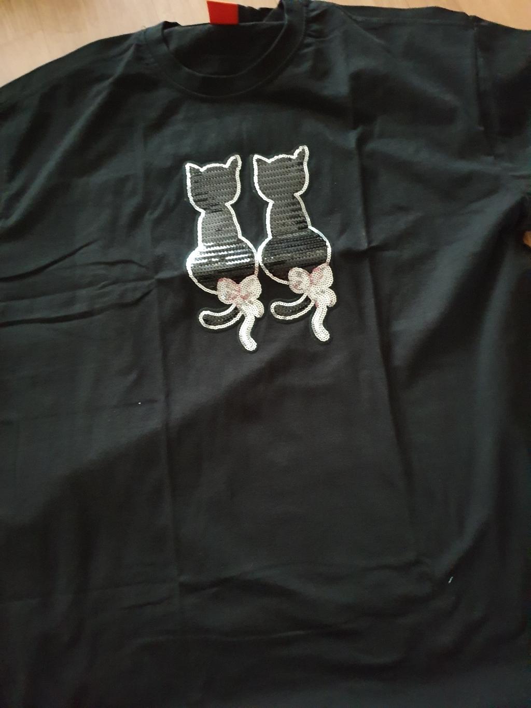 엘라모 스팽글 고양이 반팔 티셔츠  리뷰 후기
