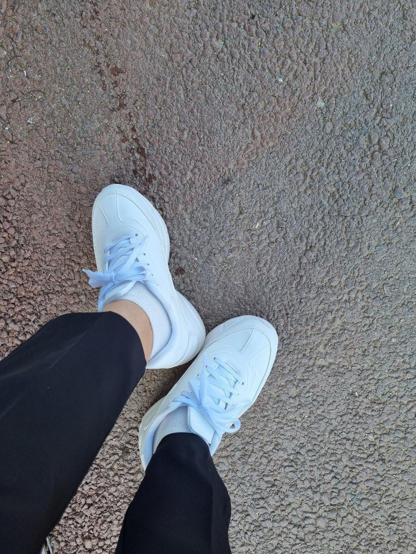 엘가니 티안나는 여성 키높이 운동화 굽높은 발편한 어글리 슈즈 신발 화이트  리뷰 후기
