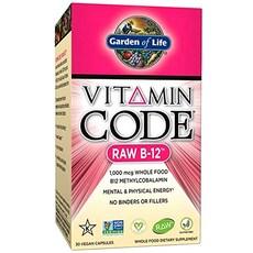 Garden Of Life 비타민 코드 로우 B-12 1000 mcg 비건 캡슐