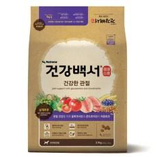 건강백서 전연령 생선 건강한 관절 애견사료, 3.9kg, 1개