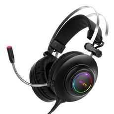앱코 HACKER 가상 7.1 RGB 진동 노이즈 캔슬링 게이밍 마이크 3D 초경량 게이밍 헤드셋, N550 ENC, 블랙