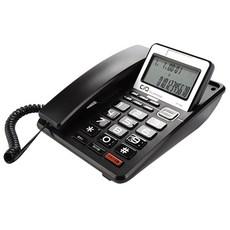 코러스 이어셋 겸용 발신자번호표시 유선 전화기, DT-3360(블랙)