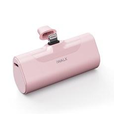 아이워크 미니 보조배터리 아이폰용, DBL4500L, 핑크