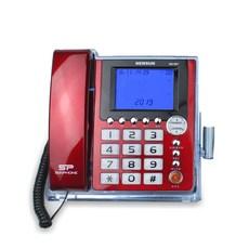 뉴썬인더스트리 발신자표시 유선전화기 NS-907, NS-907(레드)