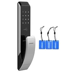 코맥스 번호키 푸시풀 디지털 도어록 CDL-200P + 카드키 3p
