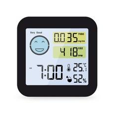 노바리빙 공기질 측정 온습도계 ML745, 블랙, 1개