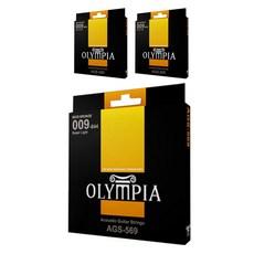 OLYMPIA 스탠다드 통기타줄 3p, AGS-569, 노란색