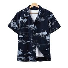 핫코드 남성용 하와이안 반팔 셔츠 4컬러 HC3