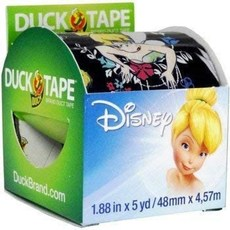 디즈니 팅커벨 덕 테이프 (1.88 인치 x 5 야드) : Office Products, 단일옵션
