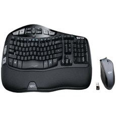 Logitech 로지텍 MK570 무선 인체공학 키보드 마우스 세트, 블랙