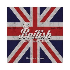 British 브리티시 포스포 브론즈 기타스트링 통기타줄 BS012 (012-053)
