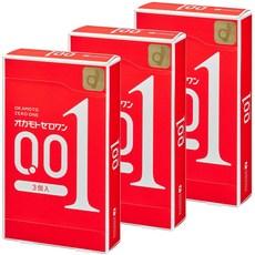 오카모토 콘돔 제로원 0.01 3개입 일본 초박형 콘돔 일반형, 3개입* 3박스