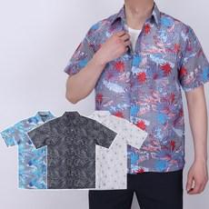 남자 스트라이프 쿨 하와이안 남방 셔츠 여름 반팔 옷