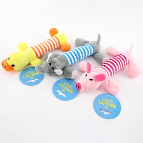 도그아이 강아지장난감 쭉쭉이 돼지 + 코끼리 + 오리